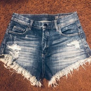 Frayed high waisted cutoff shorts ripped
